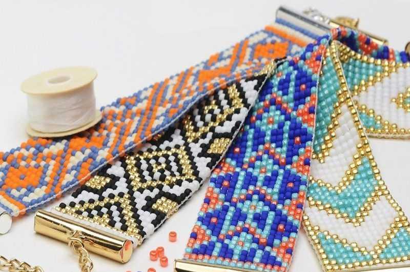 Браслет из бисера: ТОП-150 фото с пошаговыми инструкциями по созданию браслета из бисера + простые схемы плетения для начинающих