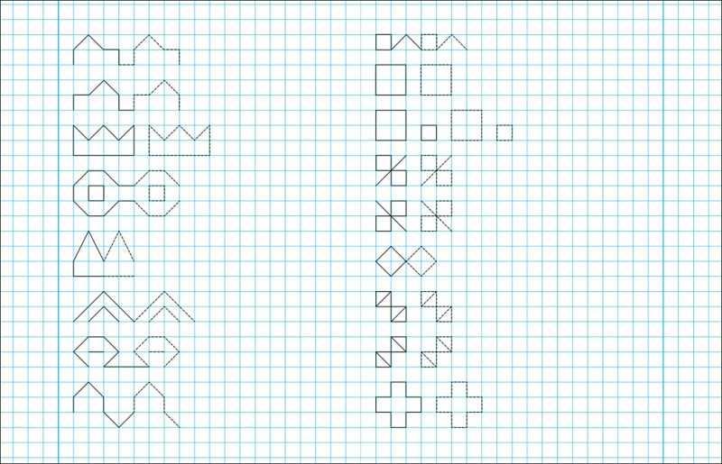 Графические рисунки по клеточкам: образцы графических рисунков. Простые схемы создания рисунков по клеточкам для детей с фото-обзорах